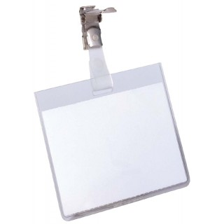 DURABLE Namensschild mit Clip 60 x 90 mm transparent
