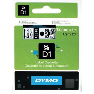 DYMO Standardetiketten D1 12 mm schwarz auf transparent
