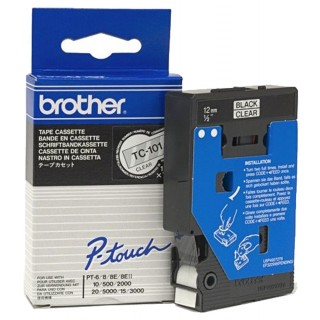 BROTHER P-Touch TC-101 12 mm transparent/schwarz