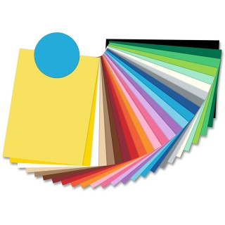 FOLIA Tonzeichenpapier 6734 50 x 70 cm 130 g/m² mittelblau