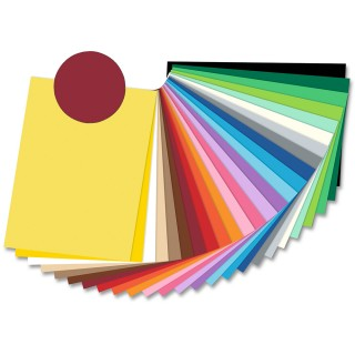 FOLIA Tonzeichenpapier 6722 50 x 70 cm 130 g/m² dunkelrot