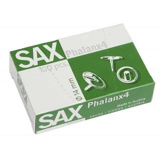 SAX Reißnägel Phalanx 4 100 Stück 14 mm silber