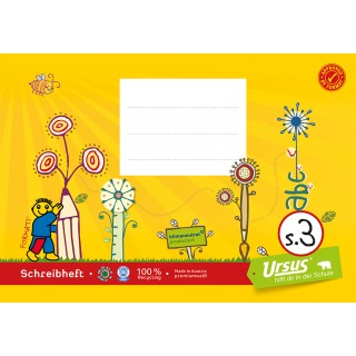 URSUS FORMATI Schreibheft S.3 A5 quer 20 Blatt liniert gelb
