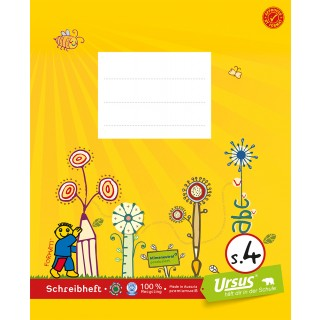 URSUS FORMATI Schreibheft S.4 Quart 20 Blatt liniert gelb