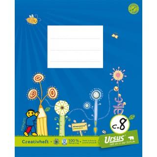 URSUS FORMATI Creativheft C.8 Quart 20 Blatt glatt blau