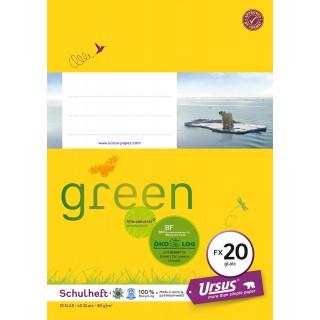 URSUS GREEN Heft FX 20 A5 40 Blatt glatt gelb