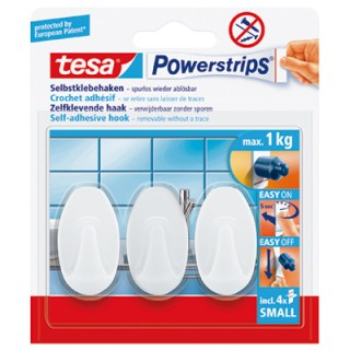 TESA Klebehaken Powerstrips® small 3 Stück weiß