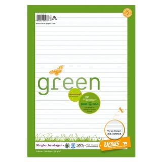 URSUS GREEN Ringbucheinlagen A4 100 Blatt liniert
