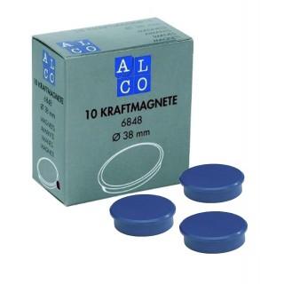 ALCO Magnete 6848 10 Stück ø 38 mm blau