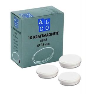 ALCO Magnete 6848 10 Stück ø 38 mm weiß
