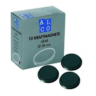 ALCO Magnete 6848 10 Stück ø 38 mm schwarz
