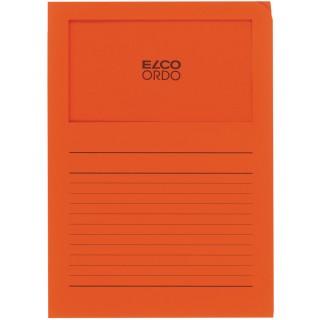 ELCO Ordo-Mappe mit Sichtfenster 100 Stück DIN A4 orange