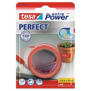 TESA extra Power Gewebeband 56341 19 mm x 2,75 m rot