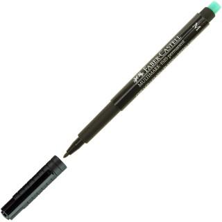 FABER-CASTELL Folienstift 1525 Multimark 1 mm permanent schwarz