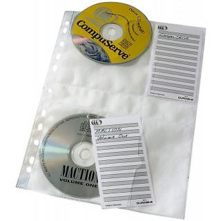 DURABLE CD/DVD-Hüllen 5222 5 Stück für 4 CDs transparent