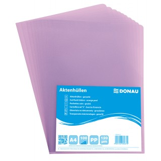 BIELLA Aktenhülle A4 120 µm 100 Stück genarbt violett