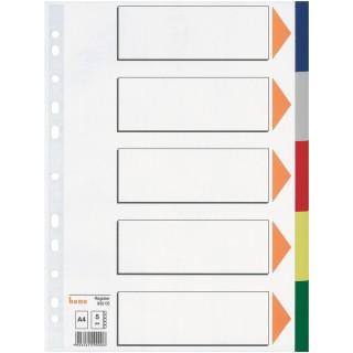 BENE Farbregister 93205 A4 5-teilig aus Kunststoff mehrere Farben