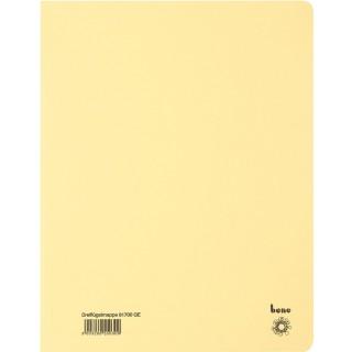 BENE Dreiflügelmappe aus Recyclingkarton A4 gelb