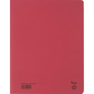 BENE Dreiflügelmappe aus Recyclingkarton A4 rot