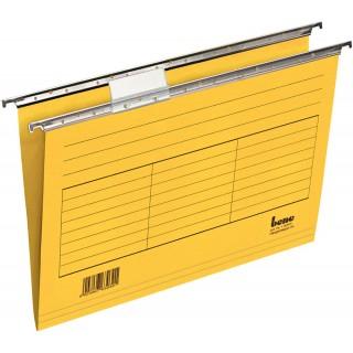 BENE Hängemappe aus Karton A4 5 Stück gelb