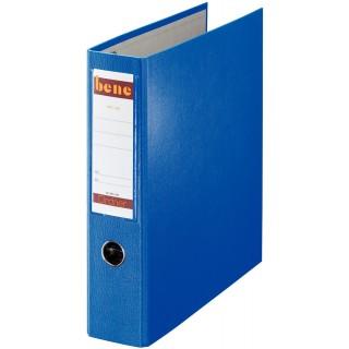 BENE Postscheckordner 232900 7,5 cm PP mit 2 Hebelmechaniken blau