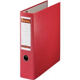 BENE Postscheckordner 292900 7,5 cm PP mit 2 Hebelmechaniken  rot