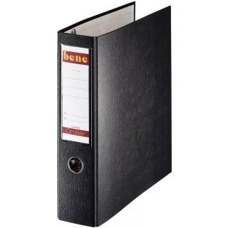 BENE Postscheckordner 292900 7,5 cm PP mit 2 Hebelmechaniken schwarz