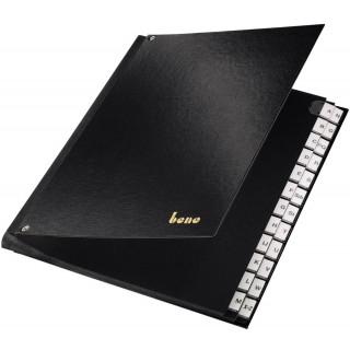 BENE Pultordner 75116 A4 24 Fächer A-Z schwarz
