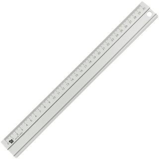 ALCO Lineal aus Aluminium 30 cm silber