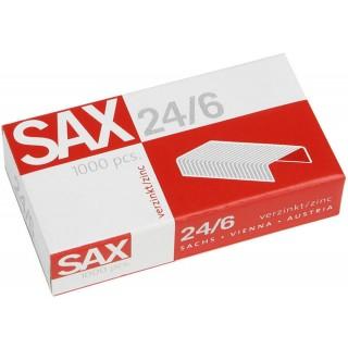SAX Heftklammern 24/6 1.000 Stück verzinkt silber