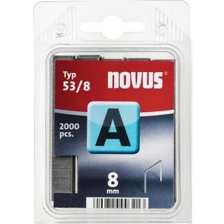 NOVUS Tackerklammern 53/8 2.000 Stück verzinkt silber