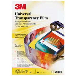 3M Universal OHP-Folie A4 20 Blatt transparent
