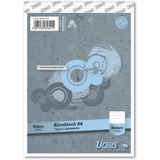 URSUS Block A6 liniert 8mm 70g/m² 50 Blatt