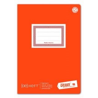 URSUS GREEN Ö-Heft A5 60 Blatt kariert