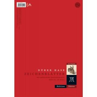 DÜRER Zeichenblätter A3 20 Blatt 130 g/m² gekörnt rot