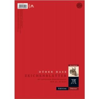 DÜRER Zeichenblätter A4 20 Blatt 130 g/m² rot