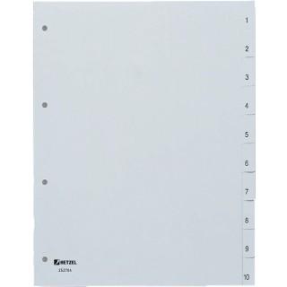 HETZEL Register 10-teilig 1-10 A4 grün