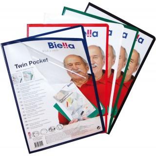BIELLA Twin Pocket Aktenhülle aus Kunststoff A4 schwarz