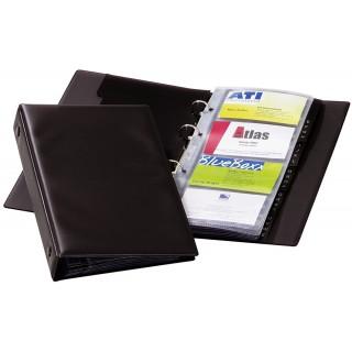 DURABLE Visitenkartenringbuch Visifix Economy für 96 Karten schwarz