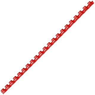 ACCO Binderücken mit 21 Ringen für A4 10 mm 100 Stück rot
