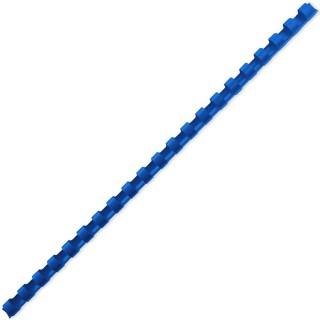 ACCO Binderücken mit 21 Ringen für A4 12 mm 100 Stück blau