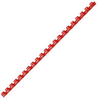 ACCO Binderücken mit 21 Ringen für A4 12 mm 100 Stück rot