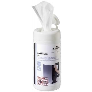 DURABLE Reinigungstücher für Kunststoffoberflächen 100 Stück weiß