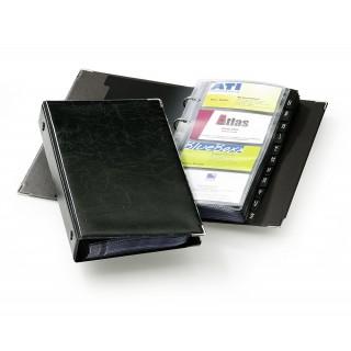 DURABLE Visitenkartenringbuch 238301 Visifix Economy für 200 Karten schwarz