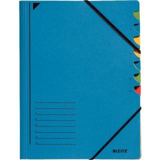 LEITZ Ordnungsmappe mit 7 Fächer A4 blau