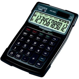 CITIZEN WR-3000 Taschenrechner 12-stellig schwarz