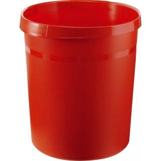 HAN Papierkorb aus Kunststoff 18 Liter rot