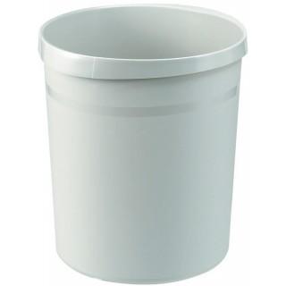 HAN Papierkorb aus Kunststoff 18 Liter lichtgrau
