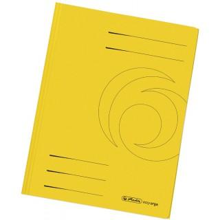 HERLITZ Schnellhefter aus Recyclingkarton A4 gelb