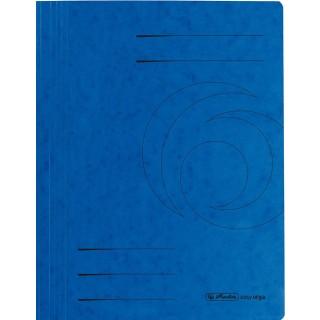 HERLITZ Schnellhefter aus Recyclingkarton A4 blau